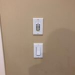 This is the original old keypad that was in the wall before we replaced it.