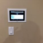 This is the after! The ipad  seamlessly fits in the wall and now the client has easy access to play their Sonos music all over the house.